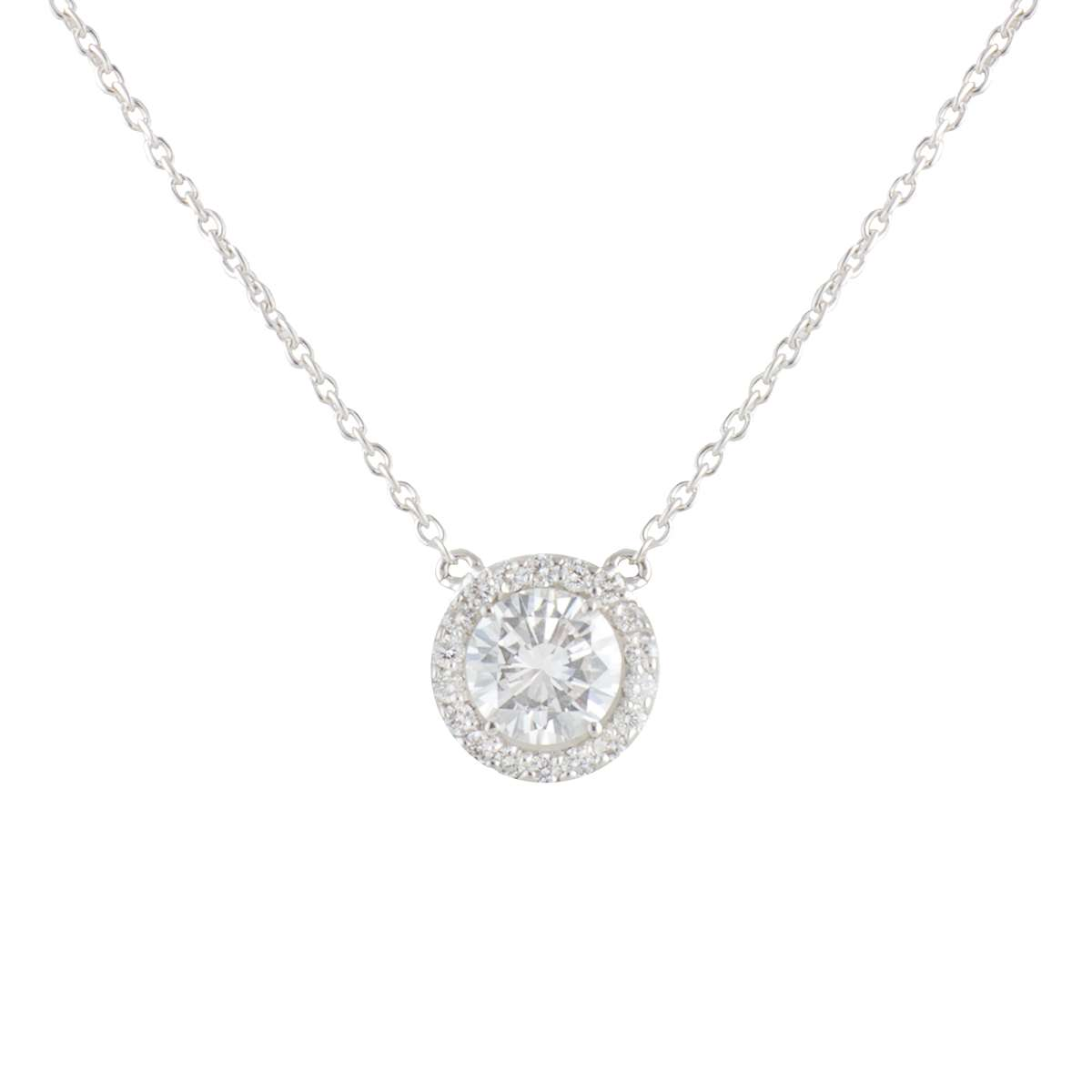 White Gold Diamond Pendant 0.82ct G/VS